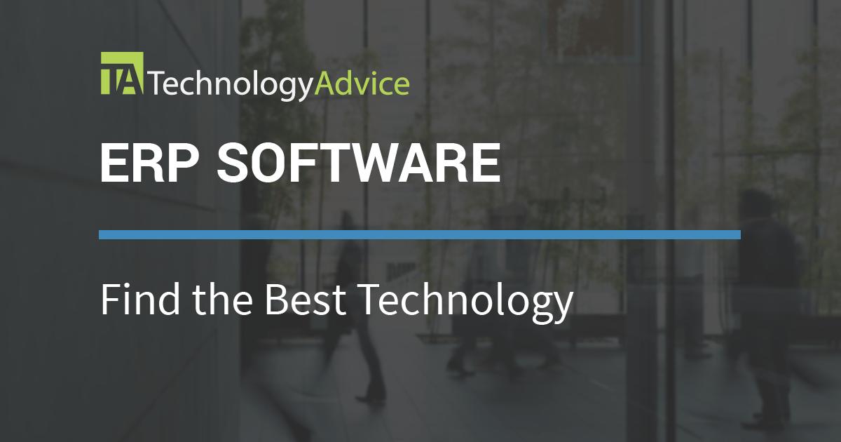 Best Erp Software Vendors 2018 Technologyadvice