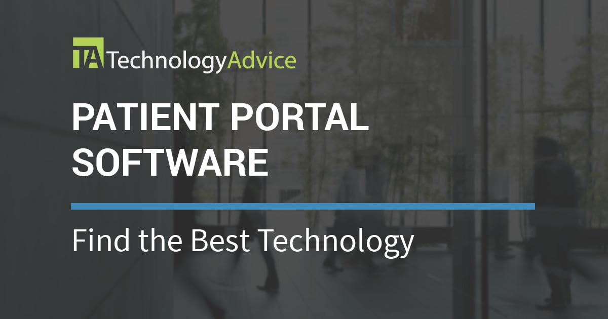 Best Patient Portal Software 2018 Technologyadvice