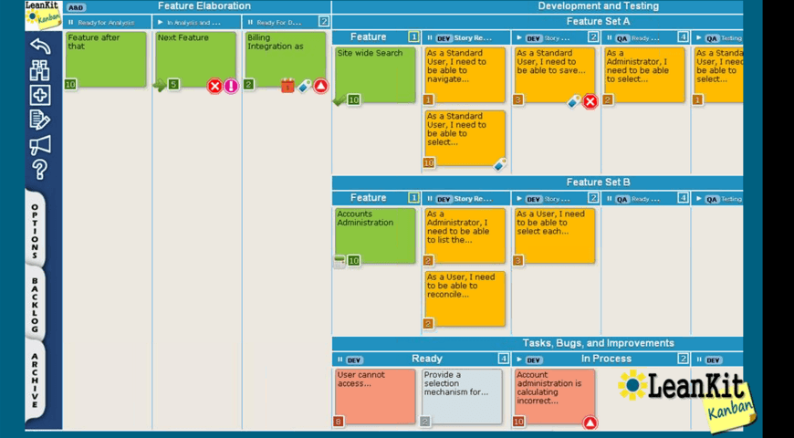 project management software example screenshot