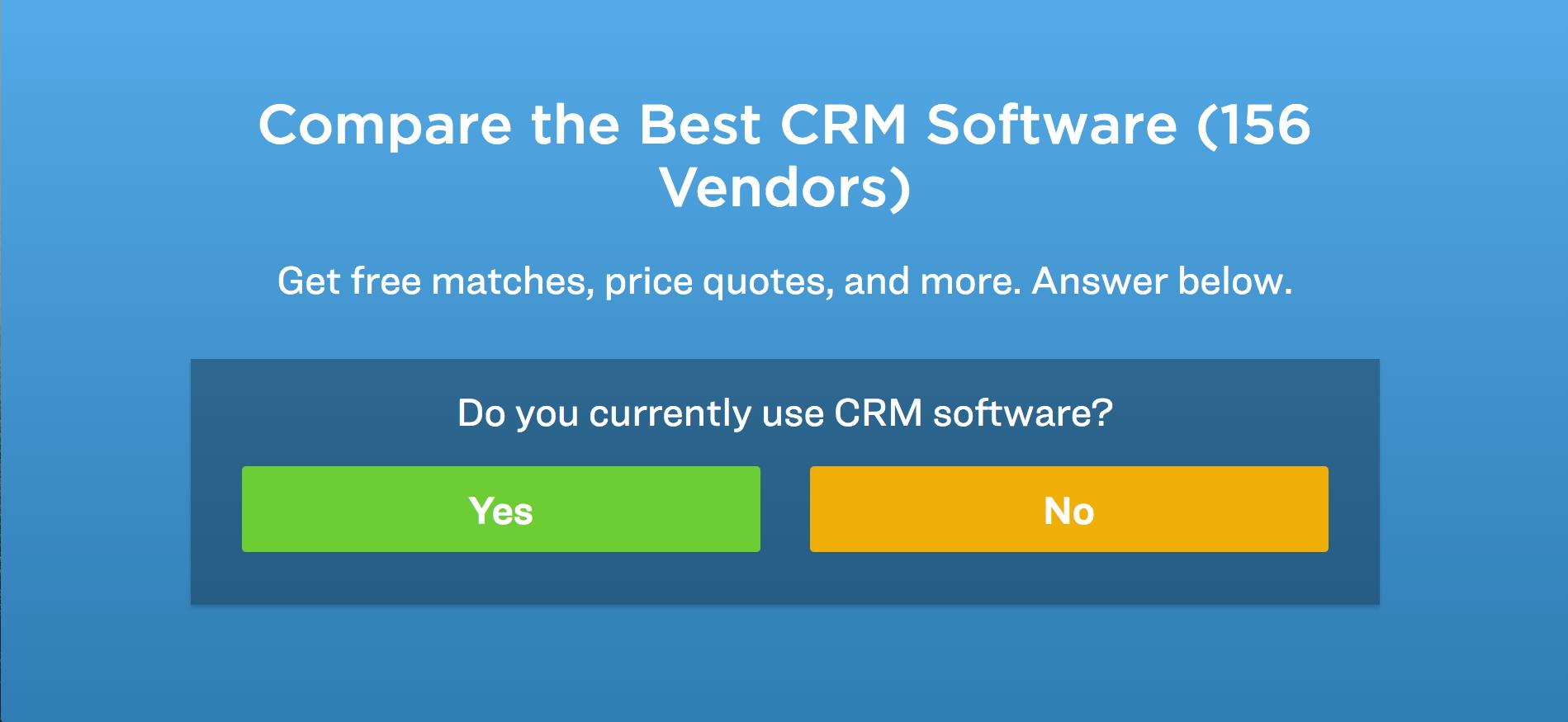 compare CRM vendors