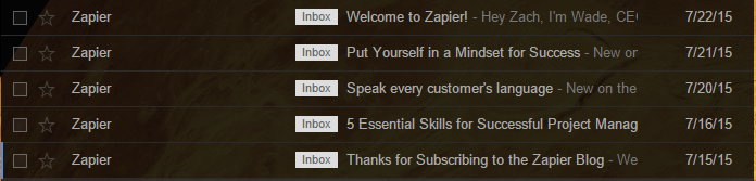 zapier email roll