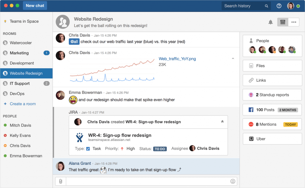hipchat interface