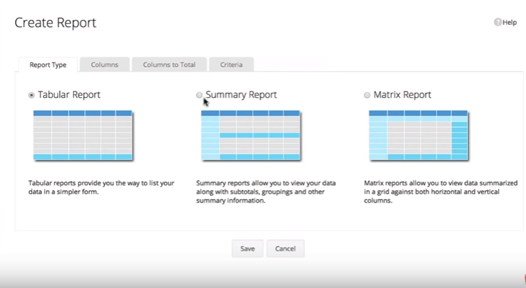 Creating a report in Zoho