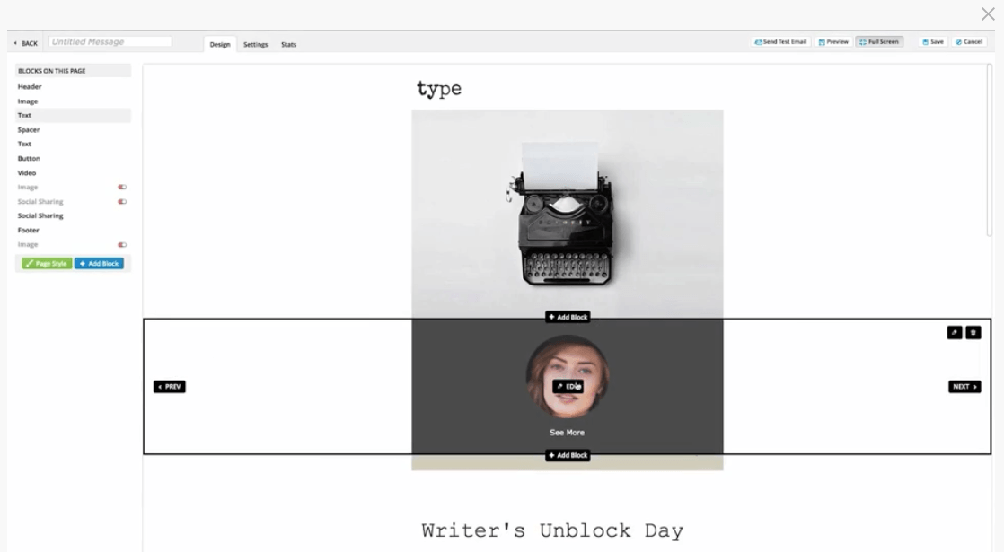Ontraport's Email Editor
