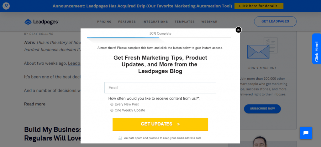 Lead Pages Capture