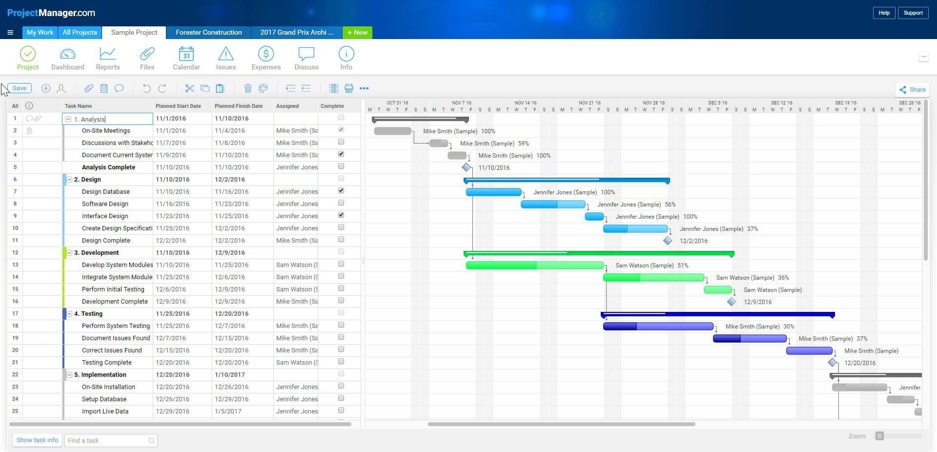 Project gantt chart fieldstation project gantt chart nvjuhfo Choice Image