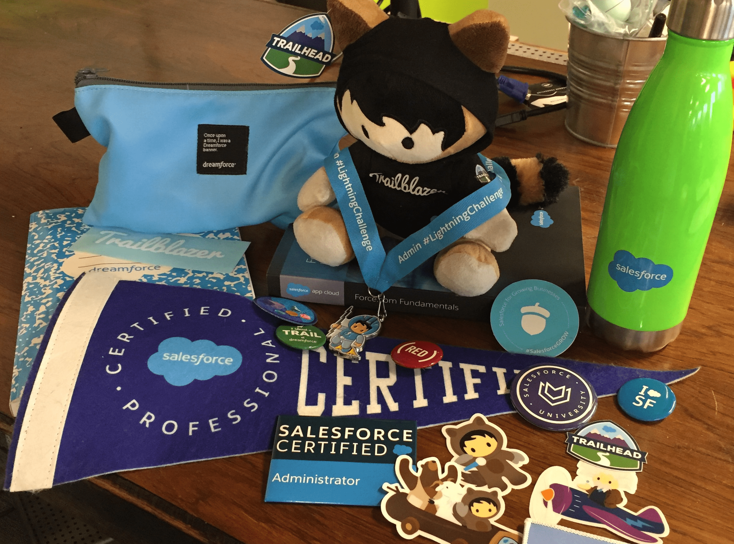 Salesforce certification swag