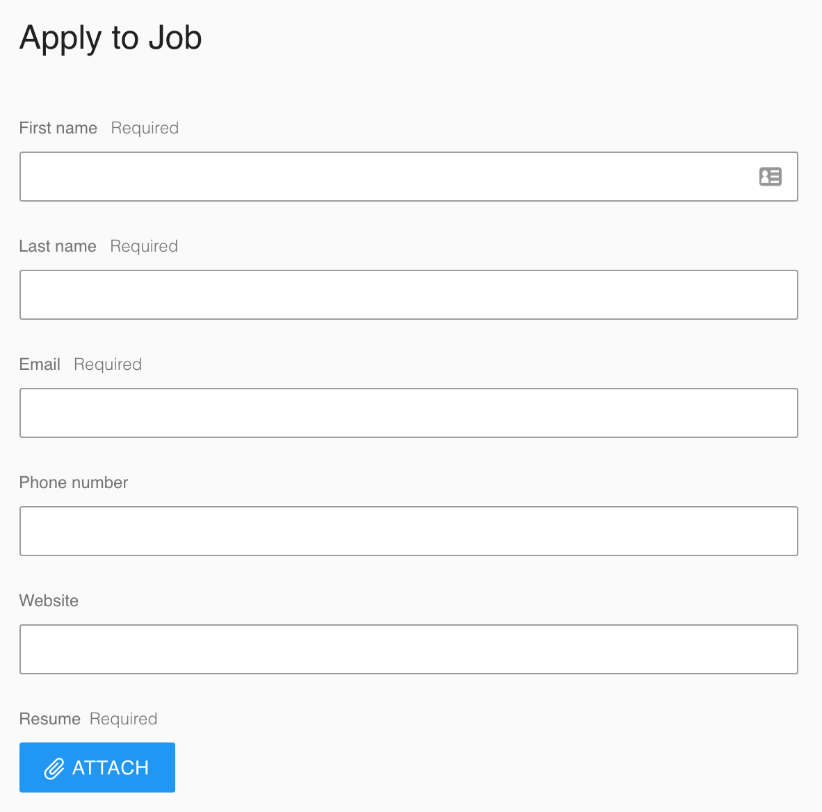 Google Hire Screenshot