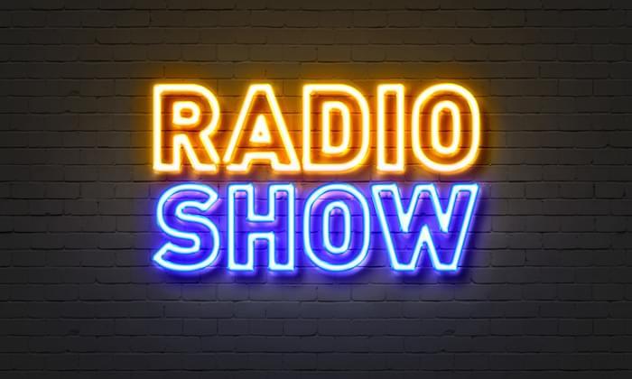 Radio show neon sign