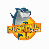 playful shark company logo