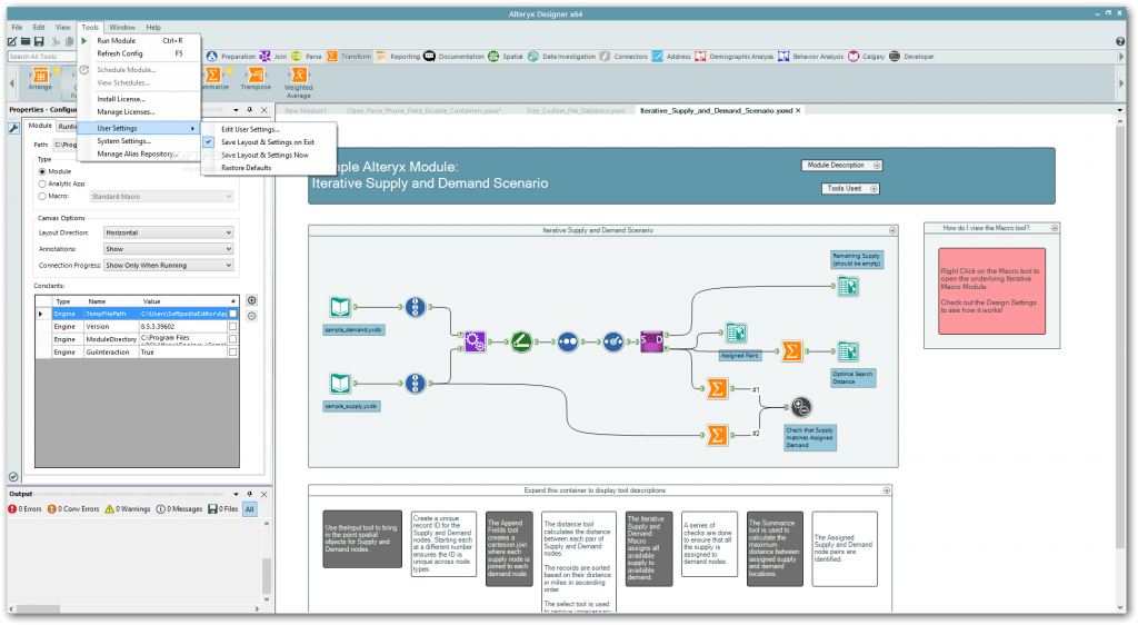 Screenshot of a workflow in Alteryx.