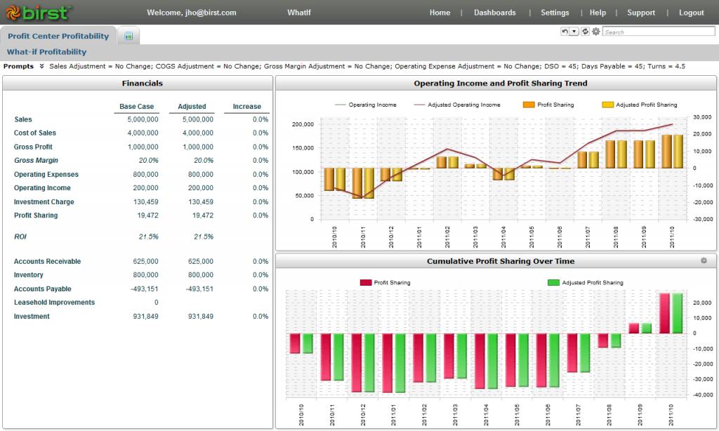 Birst BI Software Screenshot