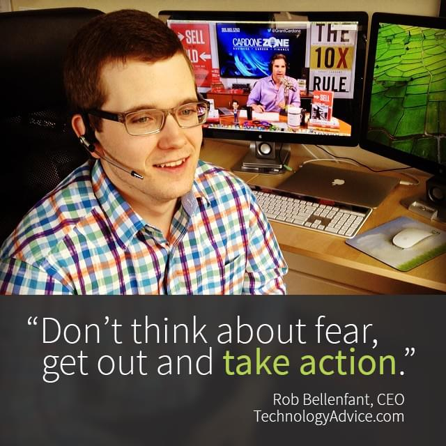 Rob Bellenfant quote about starting a business