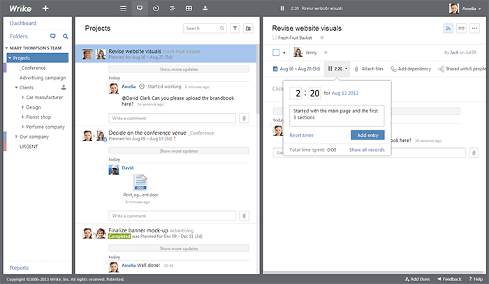 project management systems: Wrike