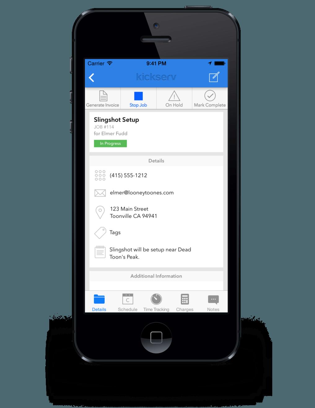 kickserv field service app