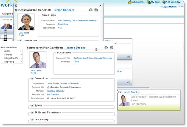 Workday talent management.