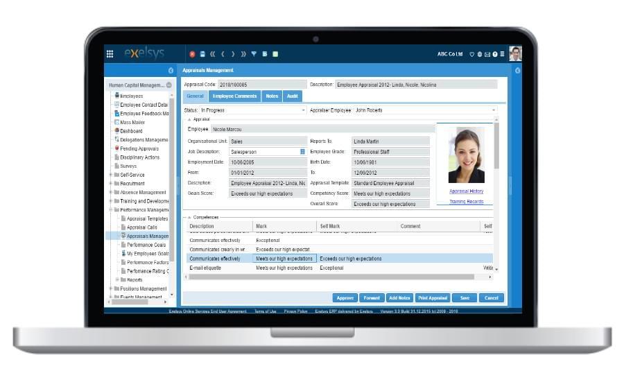 exelsys-Employee Appraisal Form