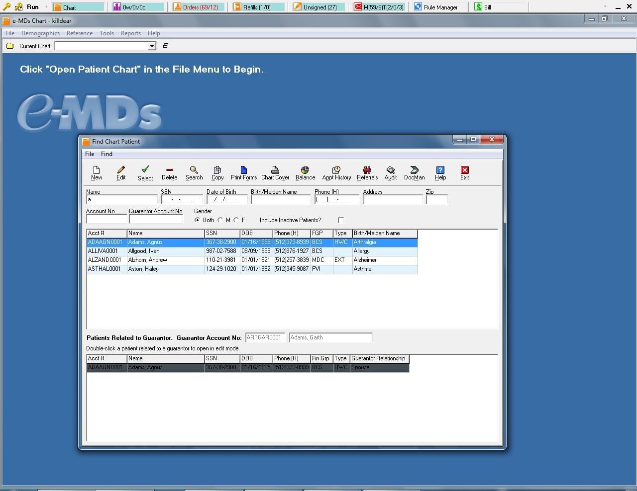 eMDs screenshot