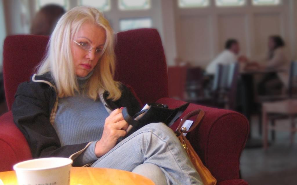 A woman at work maybe at Google