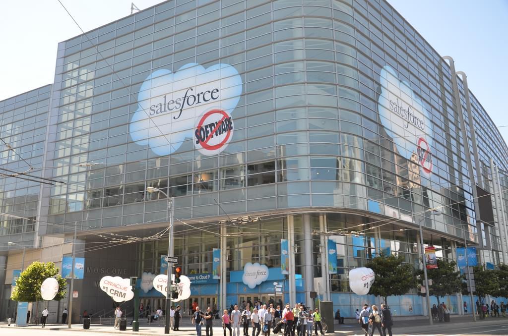 Salesforce Logo on a huge building