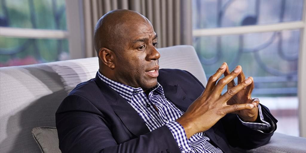 Earvin Magic Johnson image from huffingtonpost