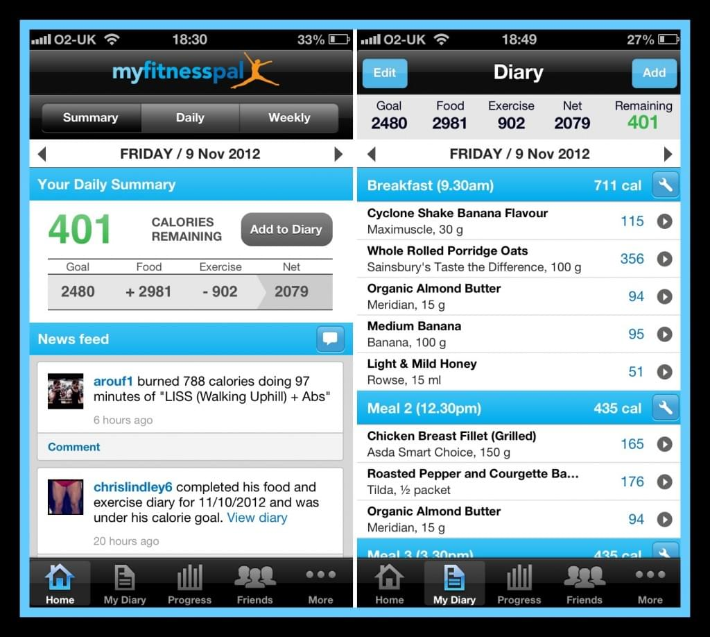 myfitnesspal fitness and health app