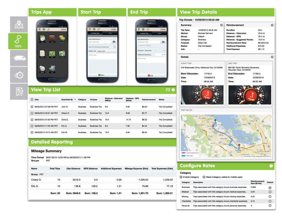 xora fleet management screenshot