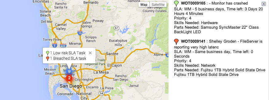 service now map view