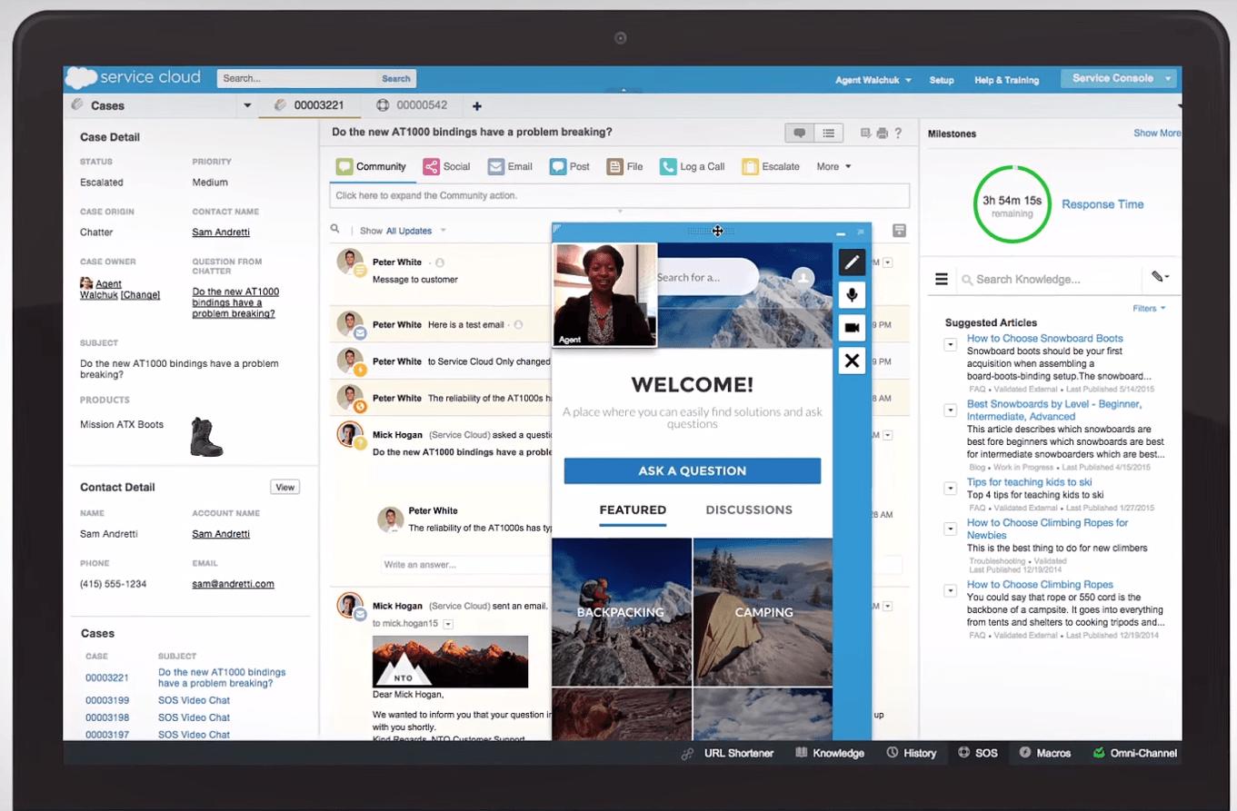 salesforce service cloud screenshot