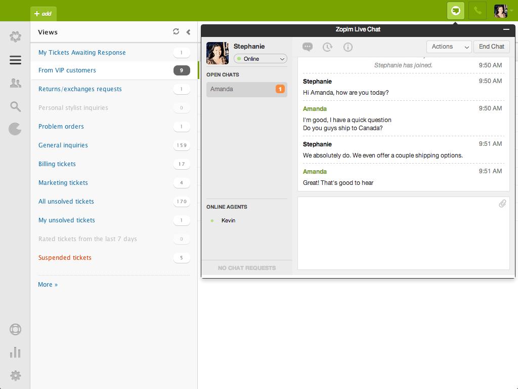 zendesk zopim live chat