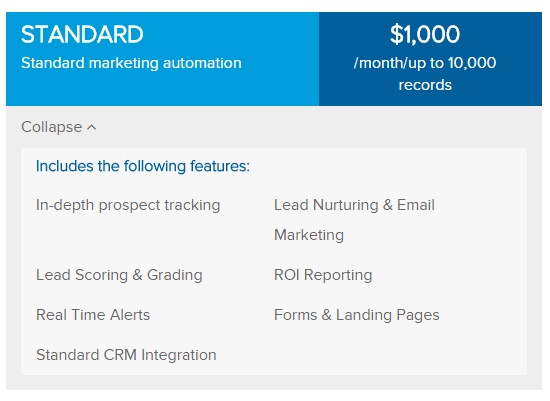 Pardot Standard Edition Pricing