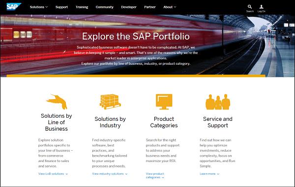 SAP product portfolio