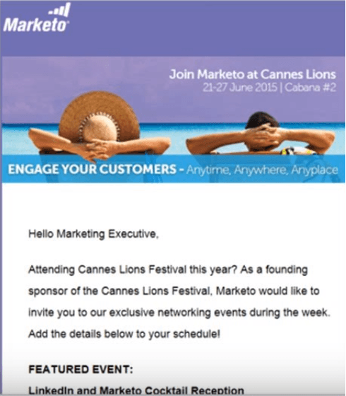 marketo micro-event invitation