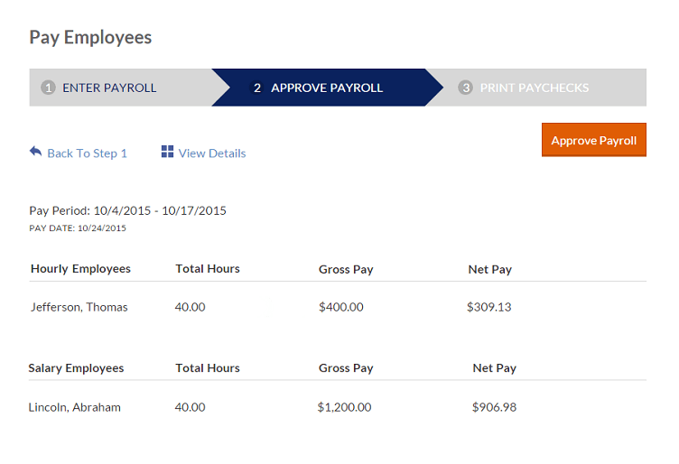 Patriot Payroll Screenshot