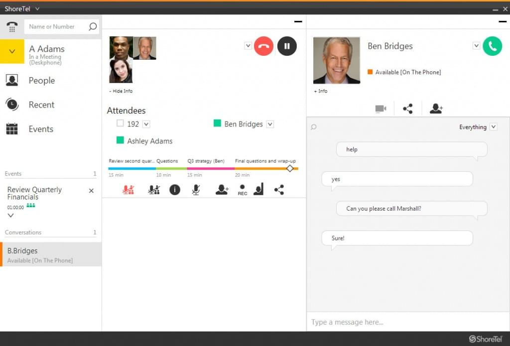 Screenshot of ShoreTel CONNECT Cloud
