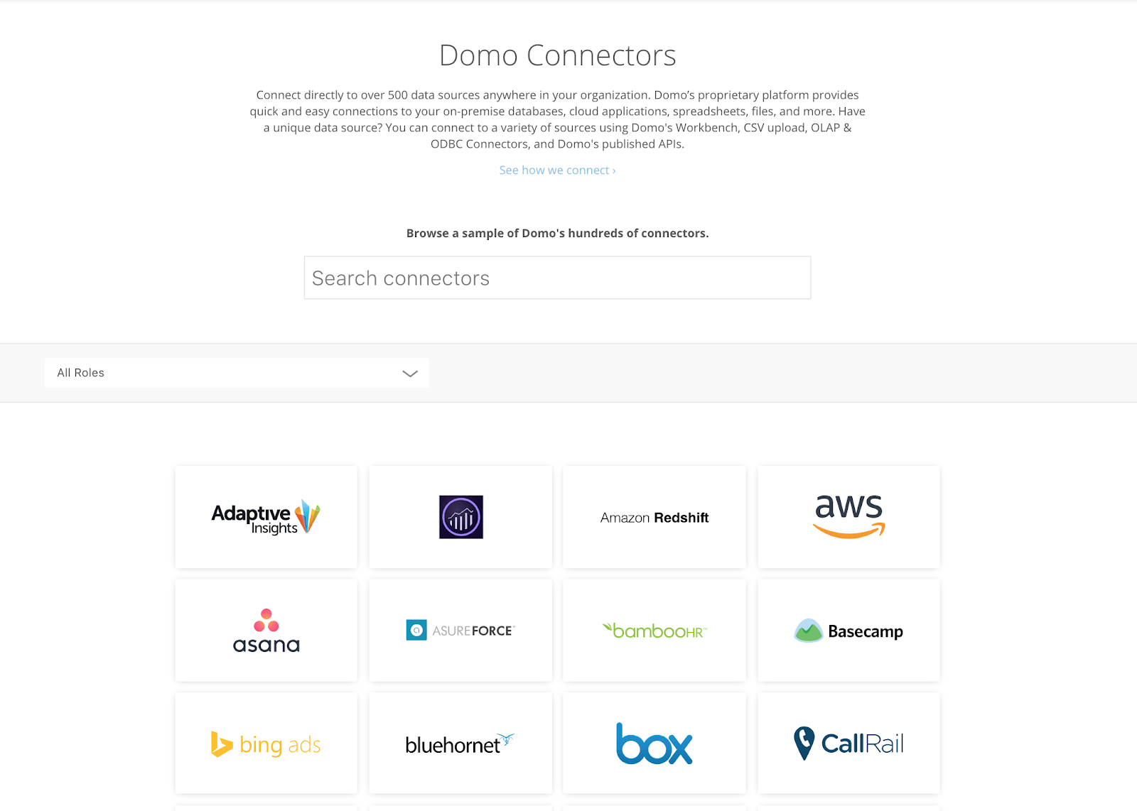 domo native data connections