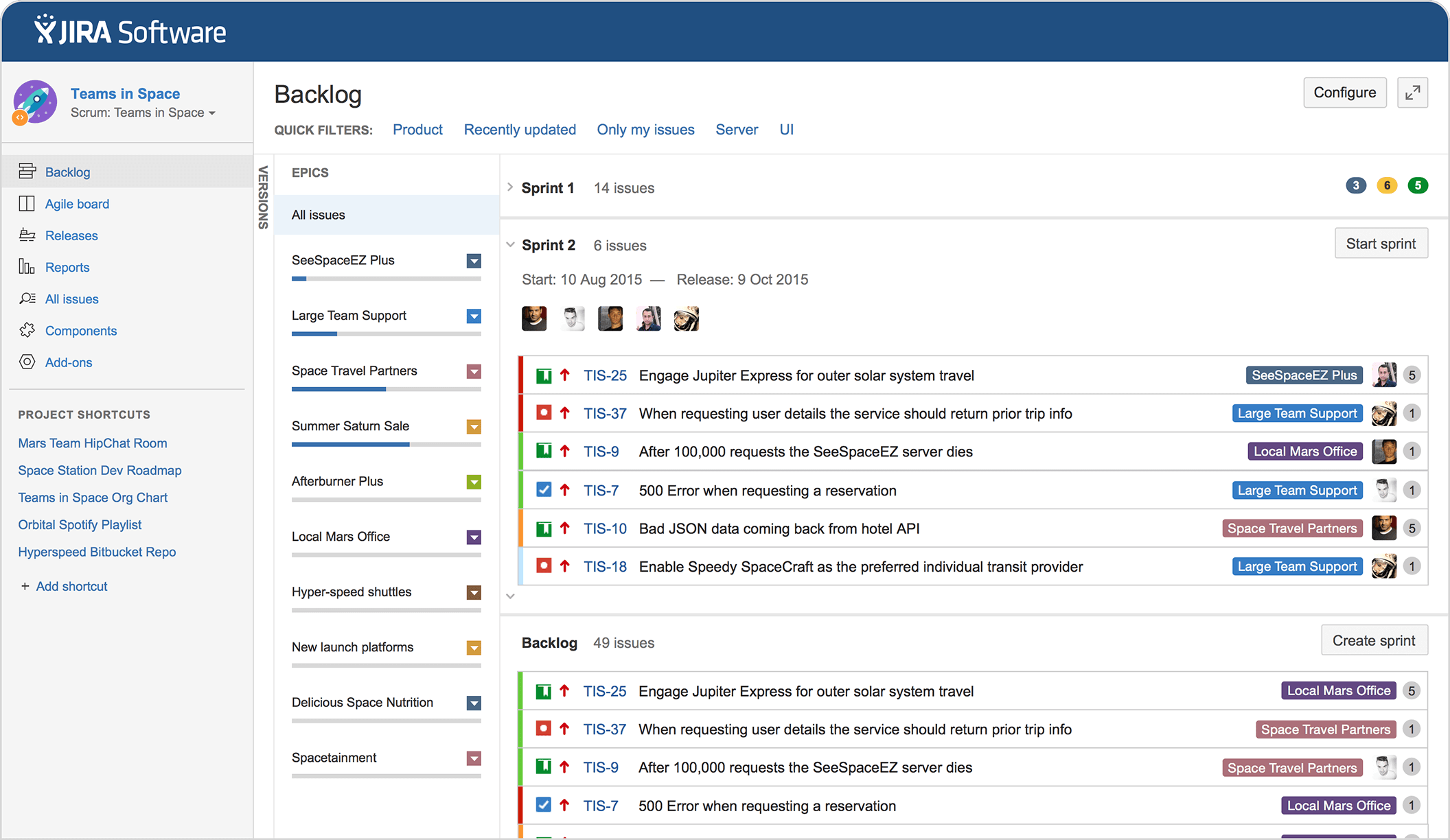 sprint planning in JIRA