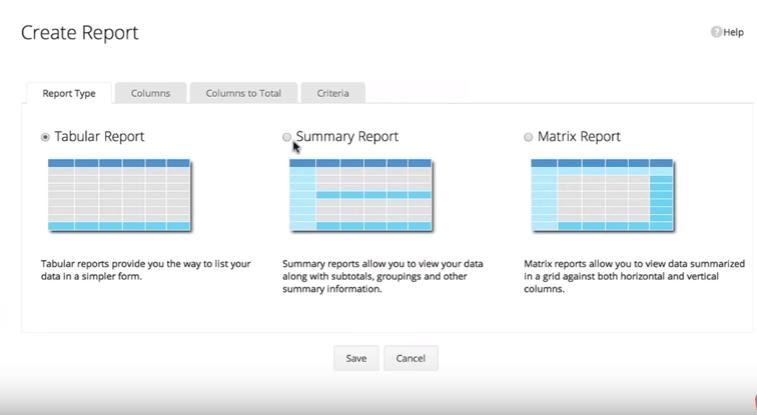 zoho crm report creation tool.