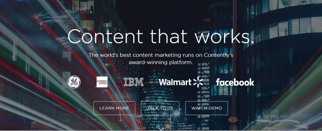 Contently's value proposition is crystal clear