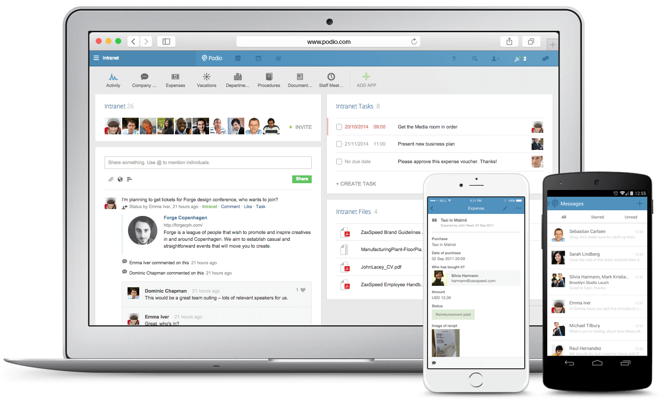 podio social intranet
