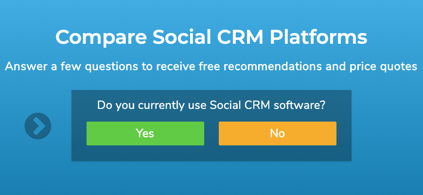 "Banner image displaying the text ""Compare Social CRM Platforms."""