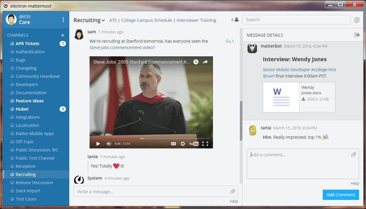 mattermost screenshot slack alternatives