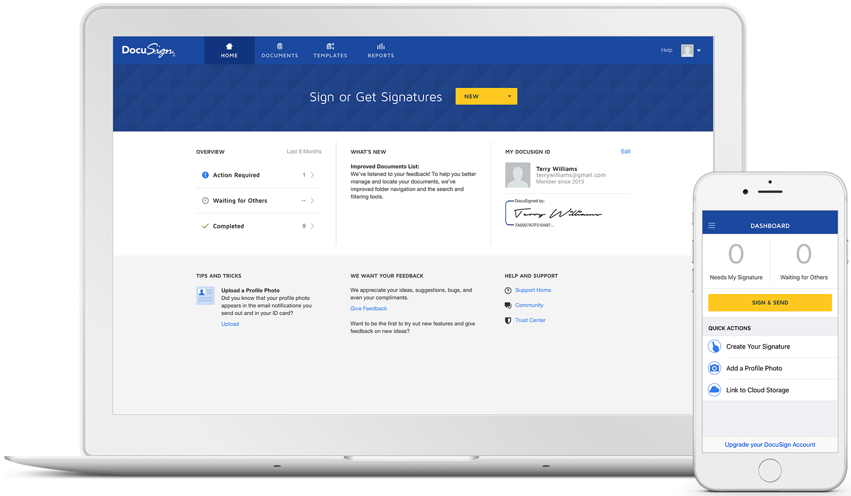 docusign dashboard