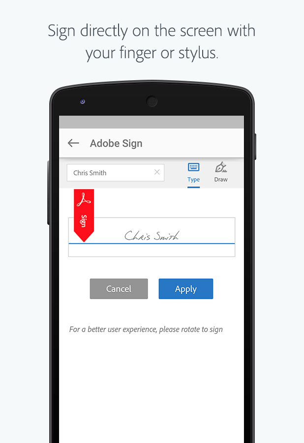 adobe sign mobile app