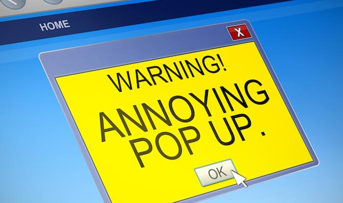 google will penalize sites that use terrible pop-ups