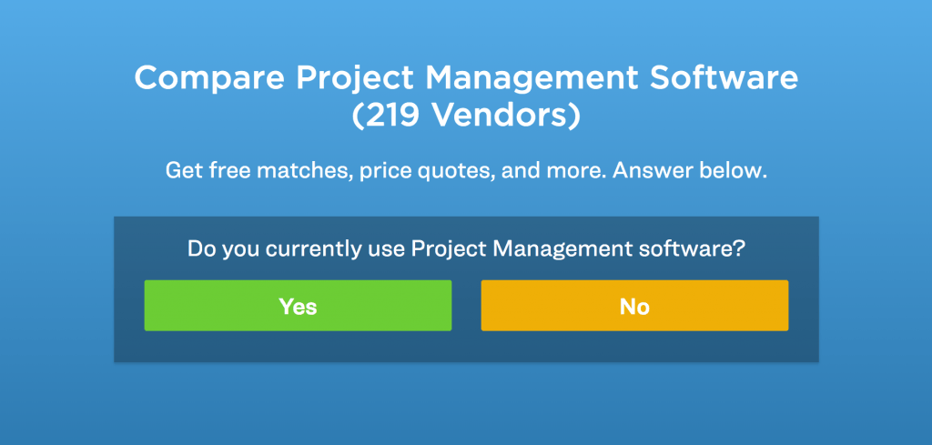 project management product selection tool