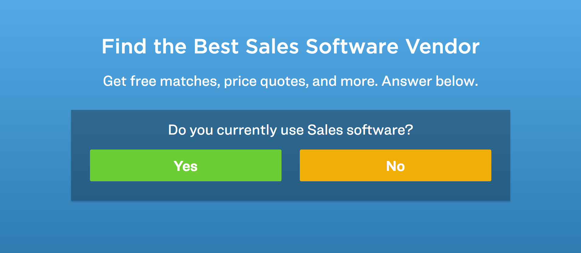 choose your sales software