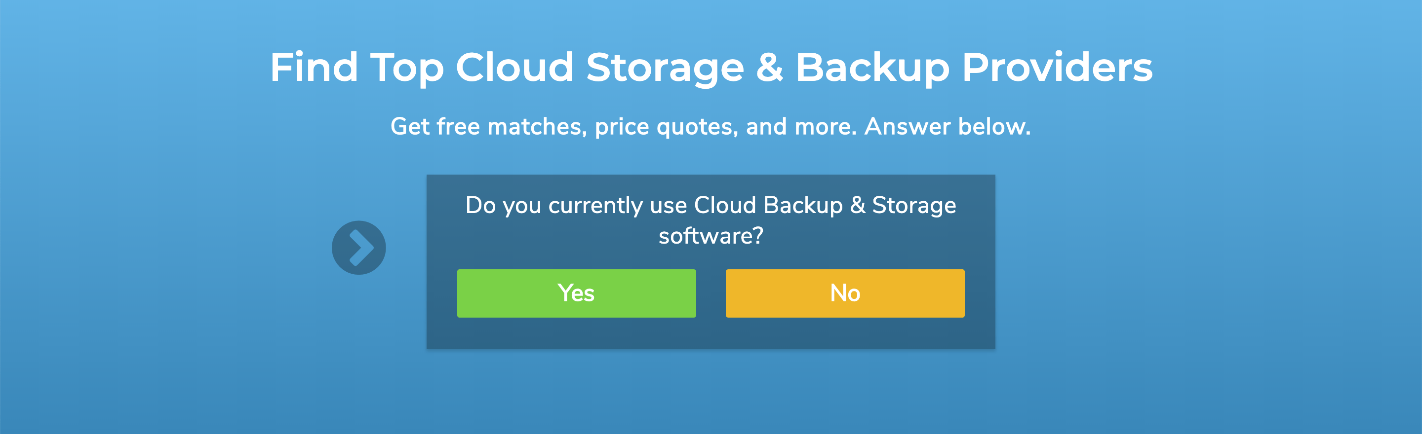 cloud backup and storage product selection tool