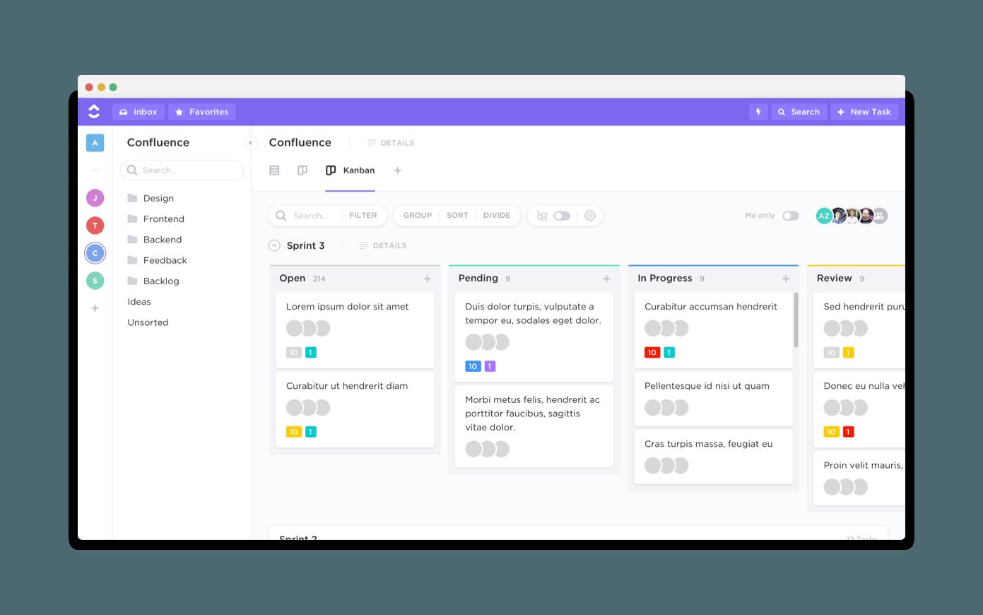 clickup user interface.
