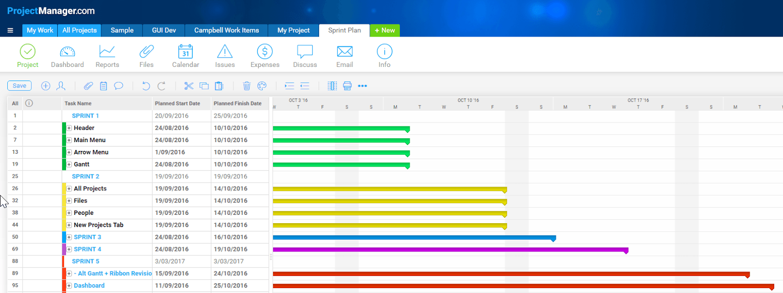 3 ways agile teams can use gantt chart software projectmanager screenshot nvjuhfo Images